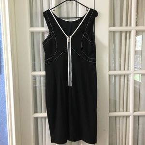 Jax Fully Lined Black Dress With Front Zipper 14
